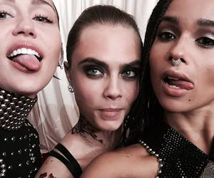 miley cyrus, cara delevingne, and zoe kravitz image