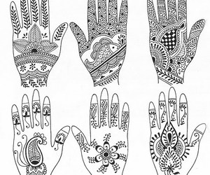 hands and mehndi image