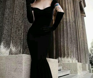 dress, black, and tattoo image