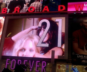 new york, forever21, and time square image