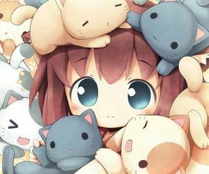 anime, kawaii, and cat image