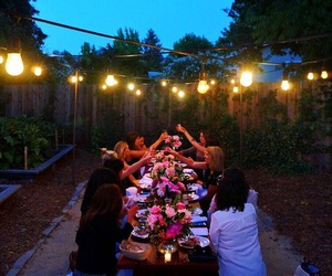 dinner, nights, and summer image