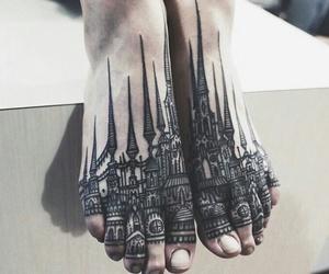 tattoo, art, and feet image