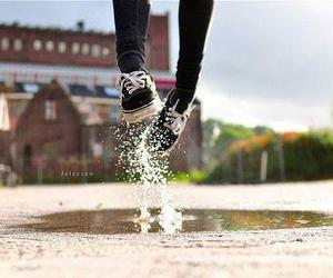 vans, water, and jump image
