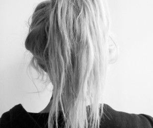 black and white, girl, and ponytail image