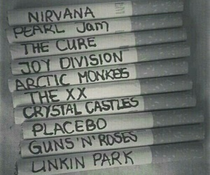 nirvana, music, and cigarette image