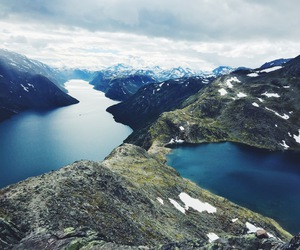 hiking, norway, and besseggen image