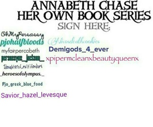 percyjackson, annabethchase, and hazellevesque image