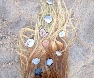 hair, beach, and summer image