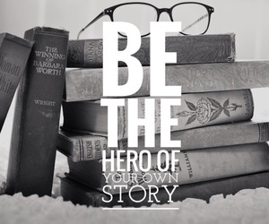 book, hero, and story image