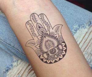 tattoo, hamsa, and hand image