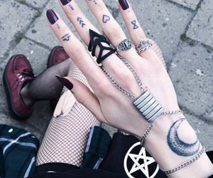 tattoo, grunge, and nails image