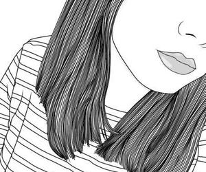 girl, art, and outline image