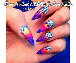 cool, tribal, and nails image
