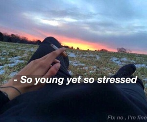 real, stressed, and teenagers image