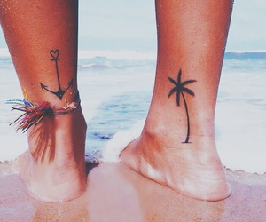 tattoo, beach, and summer image
