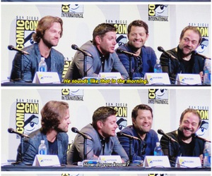 supernatural, misha collins, and dean winchester image