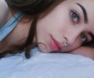 blue eyes, cute, and brown hair image