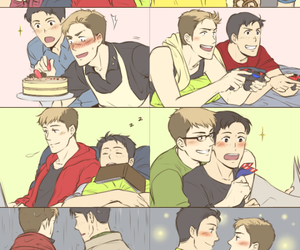 jean, marco, and yaoi image