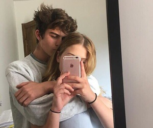 adidas, couple, and hairstyle image