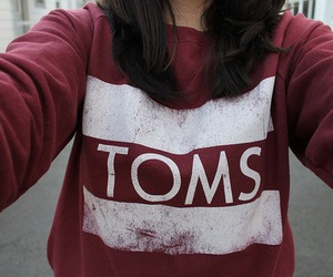 toms, sweater, and red image
