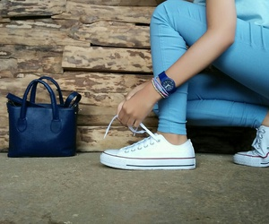 bag, navy, and blue image