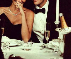 couple, love, and dinner image