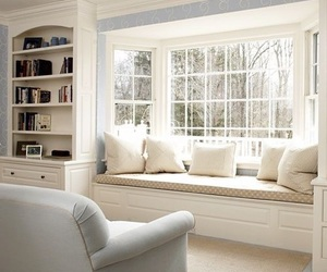 room, white, and window image