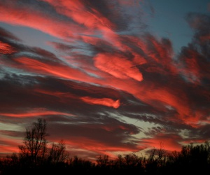 sky, red, and sunset image