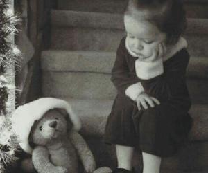 christmas, bear, and kids image