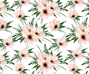 flowers, floral, and pattern image
