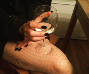 champagne, girl, and nail image