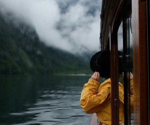 boat, clouds, and fog image
