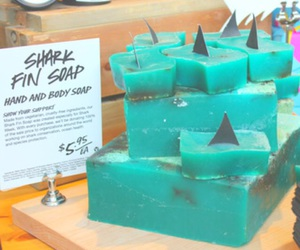 soap, lush, and shark image