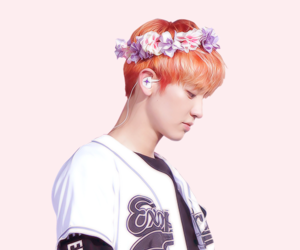 exo, flower crown, and kpop image