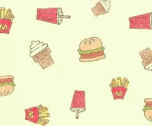 food, burger, and wallpaper image