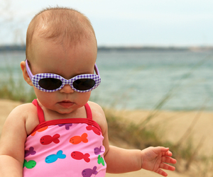 beach, lovely, and baby image