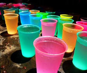 drink, colors, and neon image