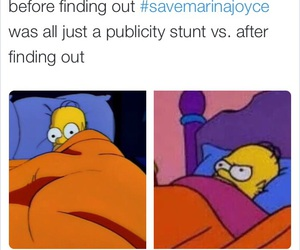 funny, the simpsons, and marina joyce image