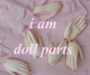 pink, doll, and grunge image