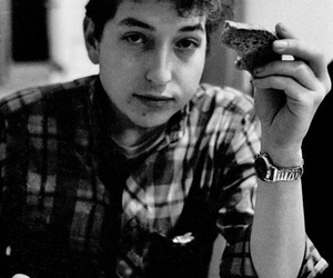 60s, black and white, and bob dylan image