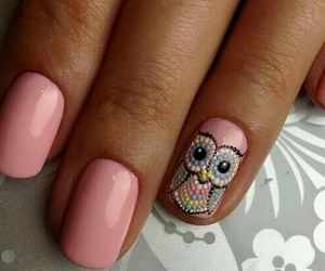 art, nails, and owl image