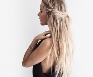 blond, bracelets, and braids image