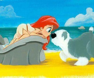 disney, ariel, and dog image
