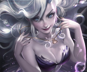art, dark, and marmaid image