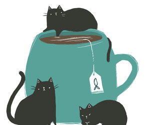 tea and cats image