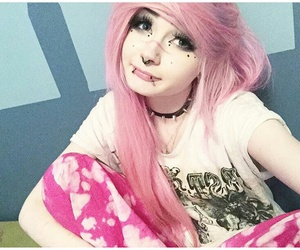 💟, exotic candy floss, and emo pink scene hair image
