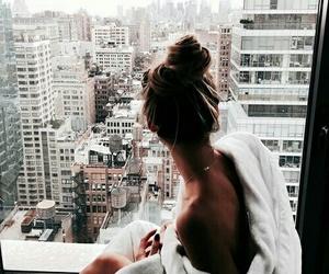 girl, city, and hair image