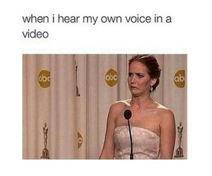 funny, Jennifer Lawrence, and voice image