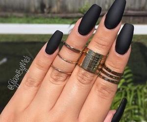 black, ring, and matte image